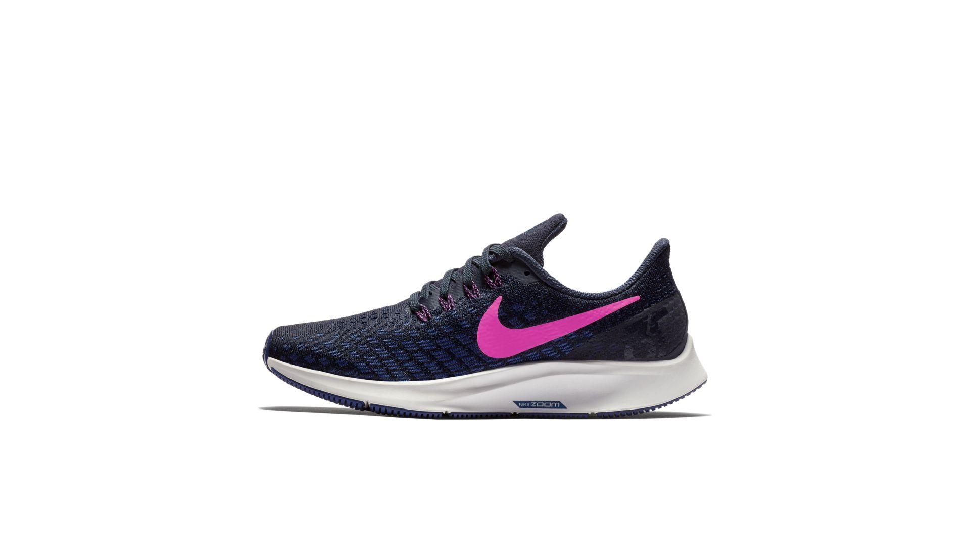 Nike Air Zoom Pegasus 35 Obsidian/Deep Royal Blue/Summit White/Pink Blast (942855-401)