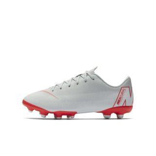 Nike Jr. Mercurial Vapor XII Academy Voetbalschoen voor kleuters/kids (meerdere ondergronden) - Grijs Grijs