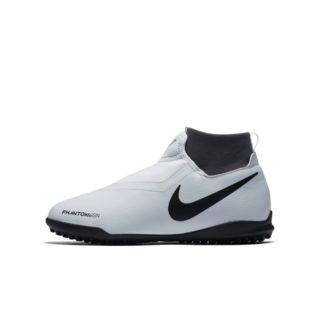 Nike Jr. Phantom Vision Academy Dynamic Fit Voetbalschoen voor kleuters/kids (turf) - Zilver Zilver