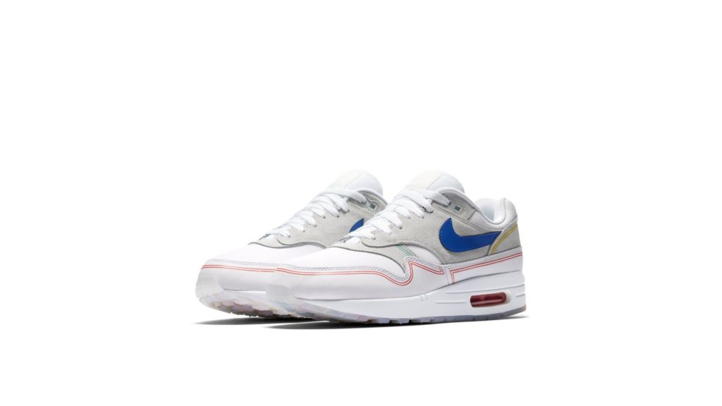Nike Air Max 1 Pure Platinum / Royal Blue / White (AV3735-002)