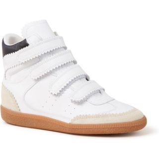 Isabel Marant Bilsy Vintage sneakerwedge van kalfsleer