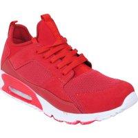 RYT Lage heren sneakers suede rood