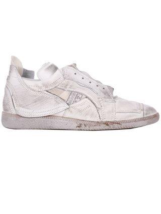 Maison Margiela Maison Margiela Distressed Low-top Sneakers (wit)