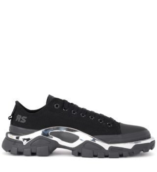 Raf Simons Adidas By Raf Simons Detroit Runner Black Canvas Sneaker (zwart)