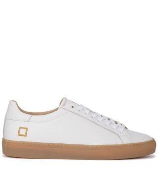 D.A.T.E. D.a.t.e. Newman Calf White Leather Sneaker (wit)