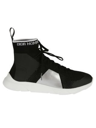 Dior Homme Dior Homme Lace-up Hi-top Sneakers (zwart/rood)