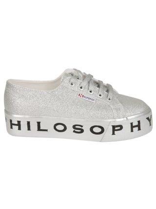 Philosophy di Lorenzo Serafini Philosophy Di Lorenzo Serafini Superga Glitter Platform Sneakers (zilver)