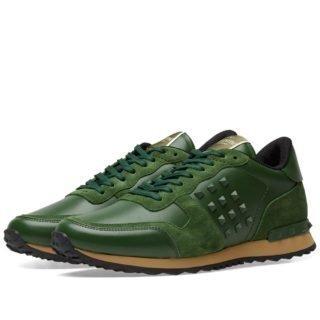 Valentino Tonal Rockrunner Sneaker (Green)