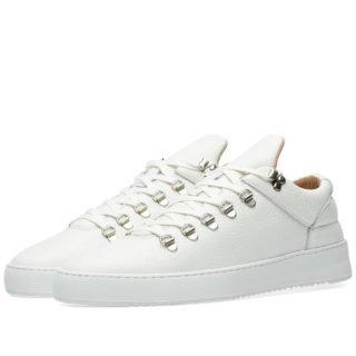 Filling Pieces Mountain Cut Ripple Lane Grain Sneaker (White)