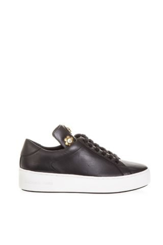 MICHAEL Michael Kors MICHAEL Michael Kors Black Mindy Sneakers In Leather (zwart)