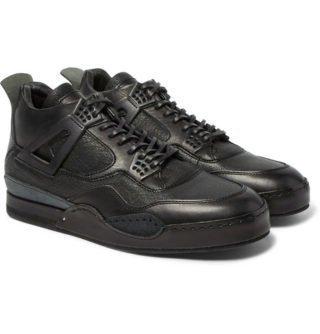 Hender Scheme Mip-10 Nubuck-trimmed Leather Sneakers – Black
