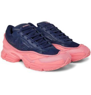 Raf Simons + Adidas Originals Ozweego Mesh And Leather Sneakers – Navy