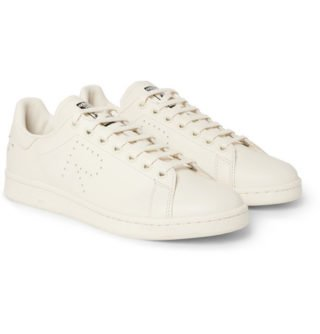 Raf Simons + Adidas Originals Stan Smith Leather Sneakers – Cream
