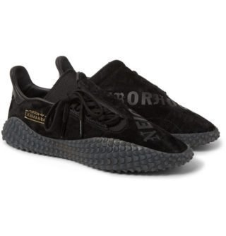 adidas Consortium + Neighborhood Kamanda 01 Printed Suede Sneakers – Black