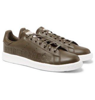 adidas Consortium + Neighborhood Stan Smith Leather Sneakers – Army green