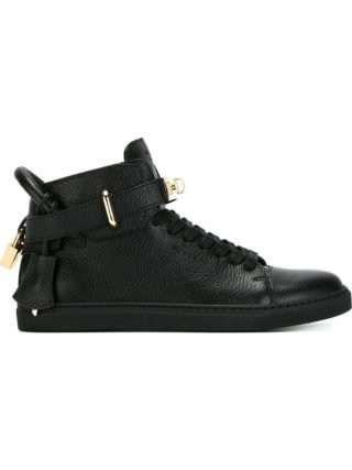 Buscemi clasp detail lace-up sneakers (zwart)