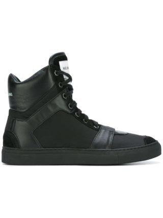 Helmut Lang hi-top sneakers (zwart)
