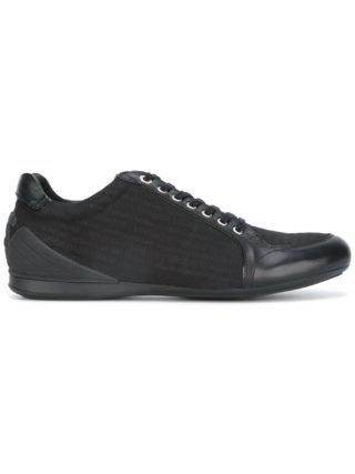 Emporio Armani logo embossed sneakers (zwart)