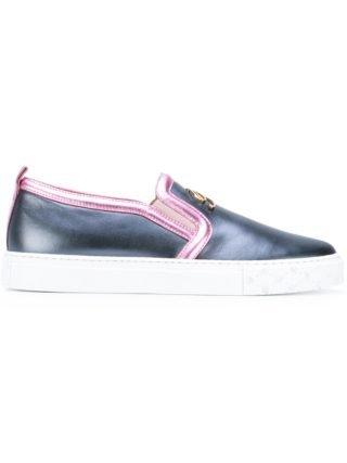 Blumarine metallic slip-on sneakers (blauw)