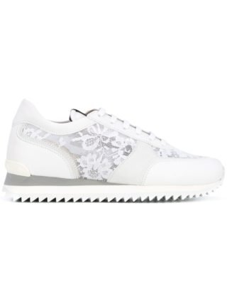Le Silla lace panel trainers (wit)