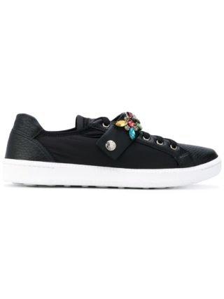 Car Shoe jewel strap trainers (zwart)