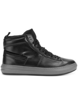 Salvatore Ferragamo calf leather hi-top sneakers (zwart)