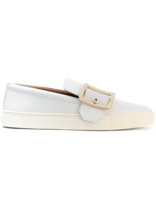 Bally buckled front slip-on sneakers (wit)