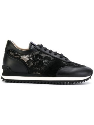 Le Silla lace embellished sneakers (zwart)