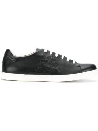 Emporio Armani lace-up sneakers (zwart)