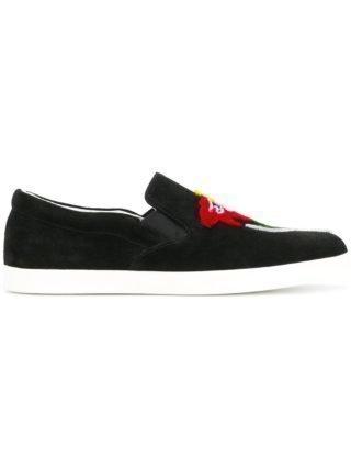 Emporio Armani flocked floral skate shoes (zwart)