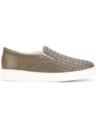 Bottega Veneta steel Intrecciato nappa sneaker - Brown