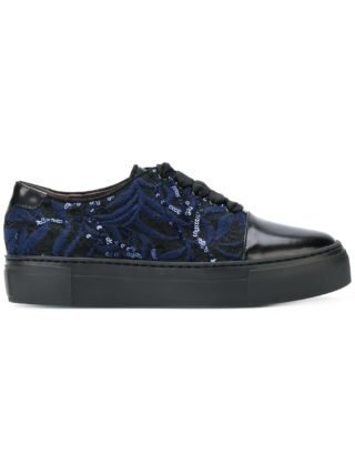 Agl embroidered sequin sneakers (zwart)