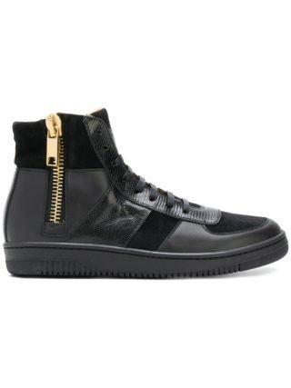 Marc Jacobs zip high-top sneakers (zwart)
