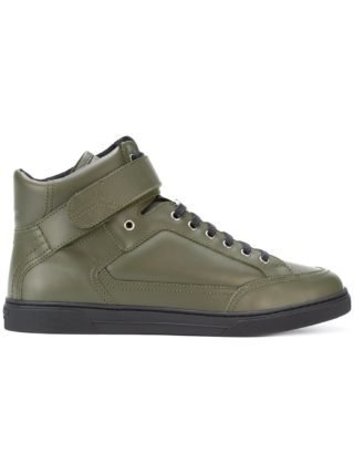 Saint Laurent Max Scratch mid-top sneakers (groen)