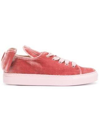 Minna Parikka velvet T-Bow sneakers (roze/paars)
