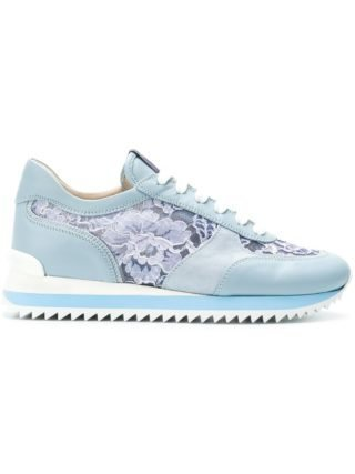 Le Silla lace-panelled sneakers (blauw)