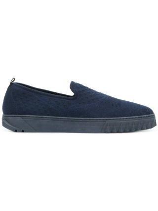 Salvatore Ferragamo slip-on thick sole sneakers (blauw)