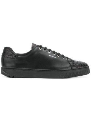 Salvatore Ferragamo spike-trimmed sneakers (zwart)