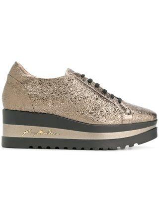 Baldinini metallic platform sneakers (zilver)