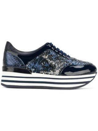 Baldinini platform lace-up sneakers (blauw)