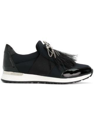 Baldinini embellished slip-on sneakers (zwart)