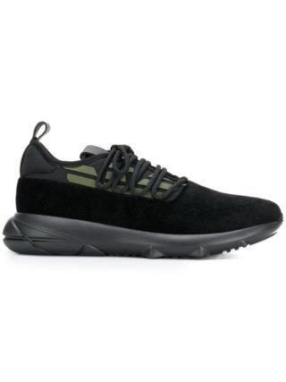 Emporio Armani side logo printed sneakers (zwart)