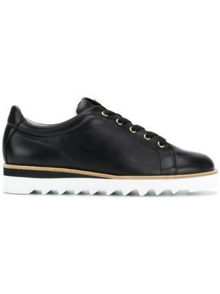 Hogl contrast lace-up sneakers (zwart)