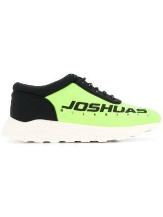 Joshua Sanders logo print sneakers (groen)