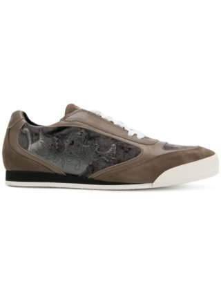 Just Cavalli panelled sneakers (bruin)