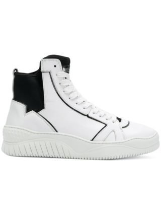 Just Cavalli lace-up hi-top sneakers (wit)