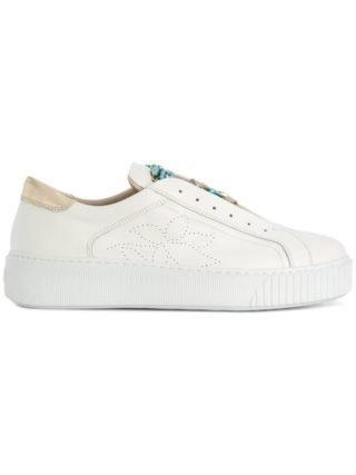 Tosca Blu embellished rose slip-on sneakers (wit)