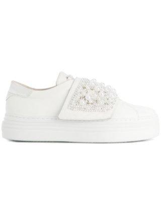 Tosca Blu beaded slip-on sneakers (wit)