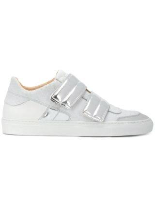 Mm6 Maison Margiela metallic touch strap sneakers (wit)