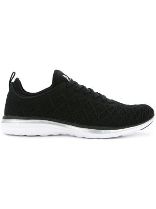 Apl textured lace-up sneakers (zwart)
